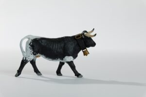 Animales de juguete | Animales de Coleccionismo | Meskebous Vaquilla Berrenda Aparejada
