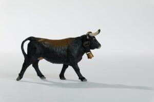 Animales de juguete | Animales de Coleccionismo | Meskebous Vaquilla Castaña Listona
