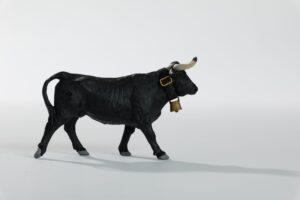 Animales de juguete | Animales de Coleccionismo | Meskebous Vaquilla Negra (CON cencerro)