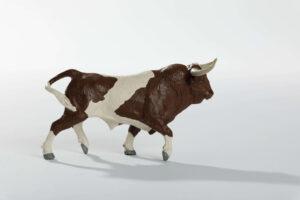 Animales de juguete | Animales de Coleccionismo | Meskebous NUEVO Toro Bravo Berrendo en Castaño