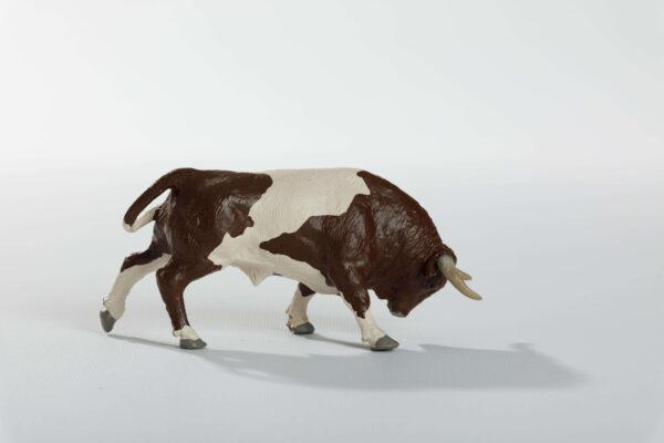 Animales de juguete | Animales de Coleccionismo | Meskebous NUEVO Toro Embistiendo Berrendo en Castaño