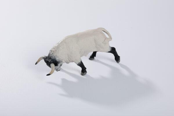 Animales de juguete | Animales de Coleccionismo | Meskebous NUEVO Toro Embistiendo Ensabanado Capuchino
