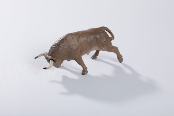 Animales de juguete | Animales de Coleccionismo | Meskebous NUEVO Toro Embistiendo Melocotón Lavado o Desteñido