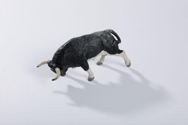 Animales de juguete | Animales de Coleccionismo | Meskebous NUEVO Toro Embistiendo Nevado Calzón Estrellado