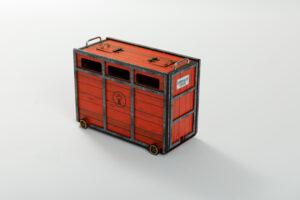 Toril o Cajón | Meskebous Toril o Cajón Rojo-Negro