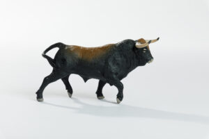 Animales de juguete | Animales de Coleccionismo | Meskebous Toro Bravo Castaño Listón