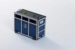 Toril o Cajón | Meskebous Toril o Cajón Azul-Blanco