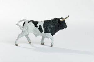 Animales de juguete | Animales de Coleccionismo | Meskebous Toro Bravo Berrendo en Negro