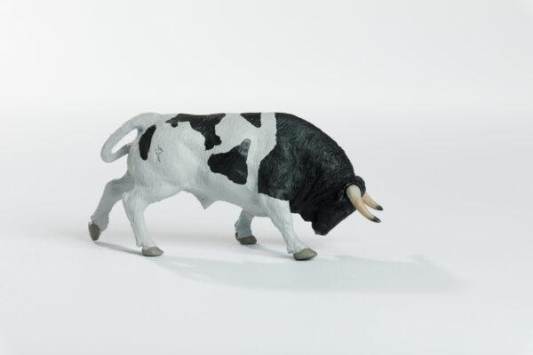 Animales de juguete | Animales de Coleccionismo | Meskebous Toro Embistiendo Berrendo en Negro